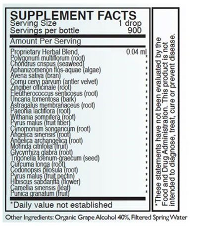 Byron White STM-CELL Support Supplement Facts