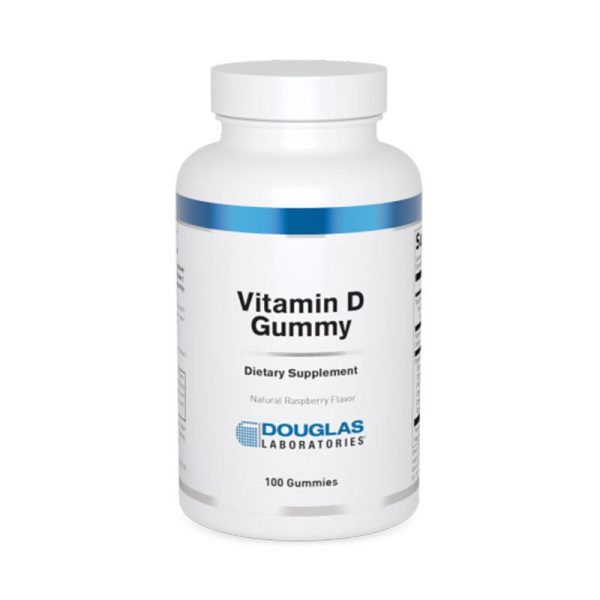 The front of bottle Vitamin D Gummy by Douglas