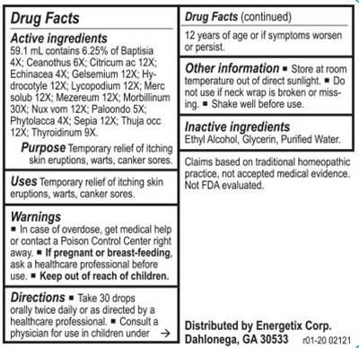 Energetix HZ Chord Supplement Facts