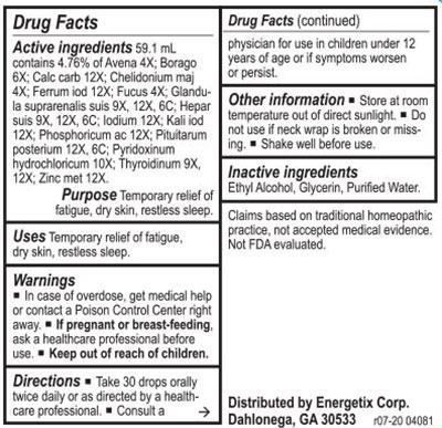 Energetix Thyro-Path Supplement Facts