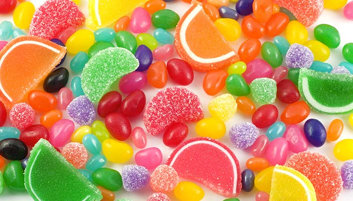 All types of colorful candy