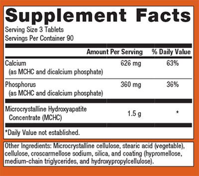 Metagenics Bone Builder Supplement Facts