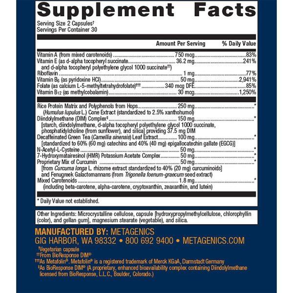 Metagenics Estro Factors Supplement Facts