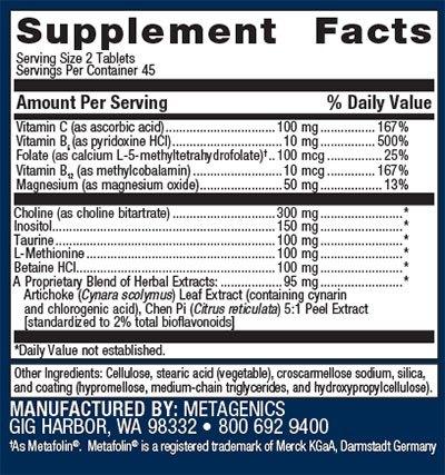 Metagenics Lipo-Gen Supplement Facts