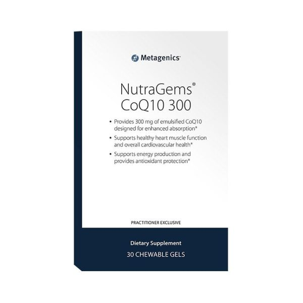 Metagenics NutraGems CoQ10 300 Front Label