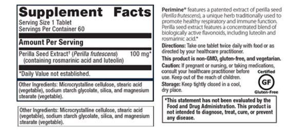 Metagenics Perimine Supplement Facts