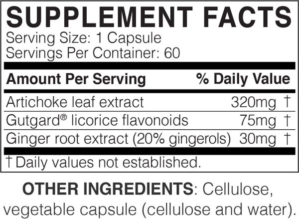 The supplement facts for MegaGuard by Microbiome Labs