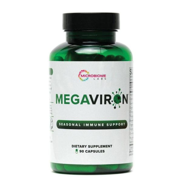 The front of bottle MegaViron by Microbiome Labs