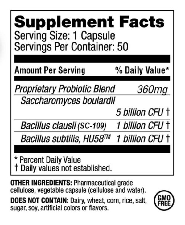 The supplement facts for RestorFlora by Microbiome Labs