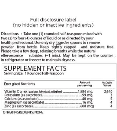 Perque Potent C Guard Powder Supplement Facts