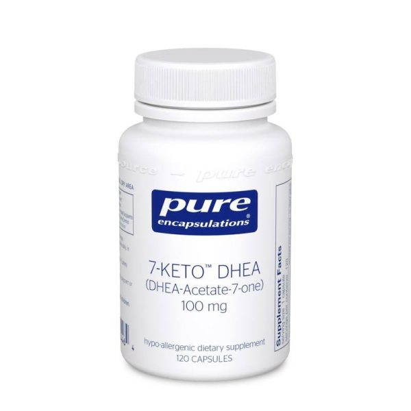 The front of bottle 7-Keto DHEA 100 mg by Pure Encapsulations