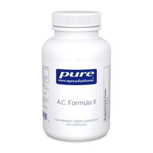 The front of bottle A.C. Formula II by Pure Encapsulations