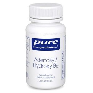 The front of bottle Adenosyl/Hydroxy B12 by Pure Encapsulations