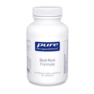 The front of bottle Best-Rest Formula by Pure Encapsulations