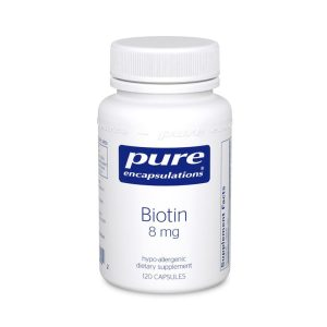 The front of bottle Biotin by Pure Encapsulations