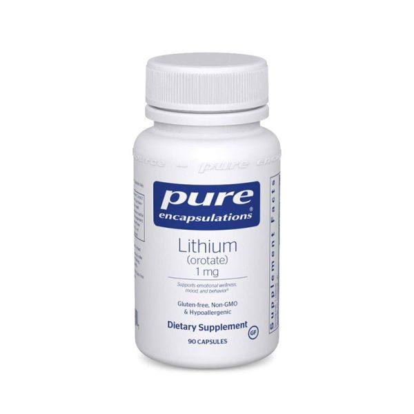 Pure Encapsulations Lithium (Orotate) 1 mg Bottle