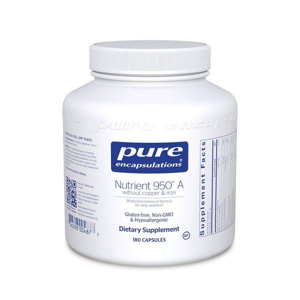 Pure Encapsulations Nutrient 950 A without copper & iron Bottle