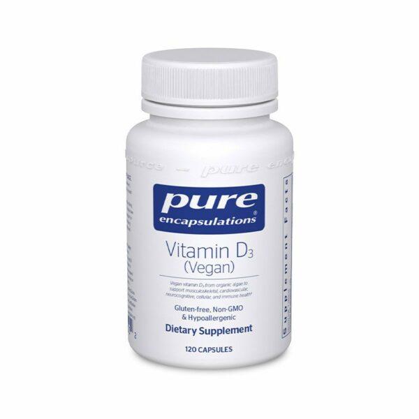 Pure Encapsulations Vegan Vitamin D Bottle