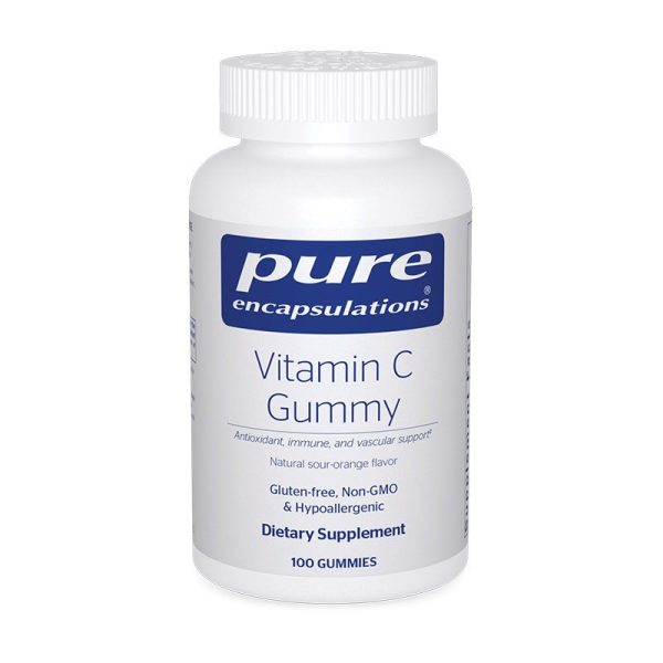 The front of bottle Vitamin C Gummy by Pure Encapsulations