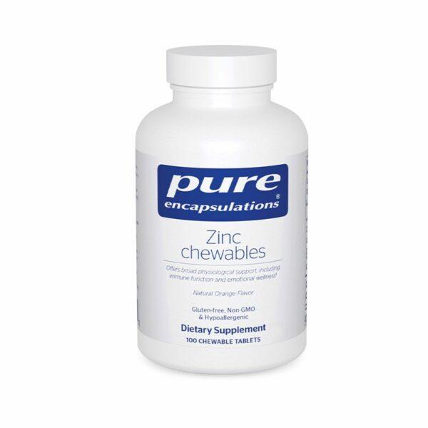 Pure Encapsulations Zinc Chewables Bottle