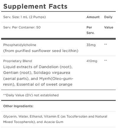 Quicksilver Scientific BitterX Supplement Facts