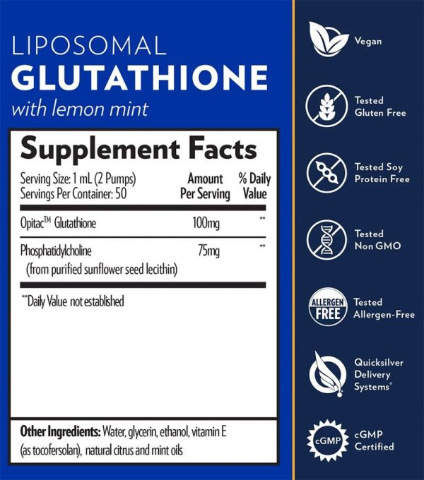 Quicksilver Scientific Liposomal Glutathione Supplement Facts