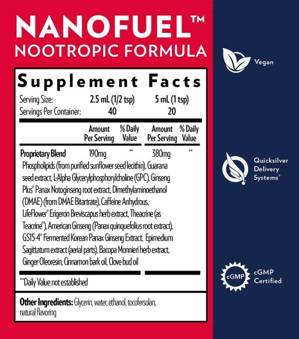 Quicksilver Scientific NanoFuel Supplement Facts