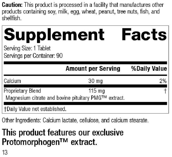 Standard Process Pituitrophin PMG Supplement Facts