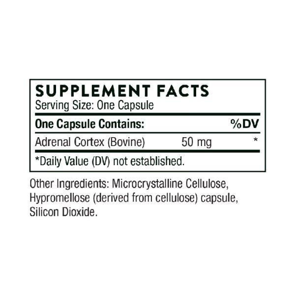 Thorne Adrenal Cortex Supplement Facts