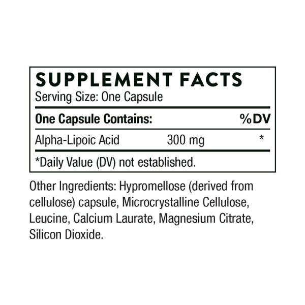 Thorne Alpha-Lipoic Acid Supplement Facts