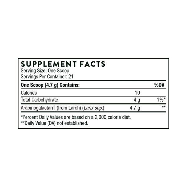 Thorne Arabinex Supplement Facts