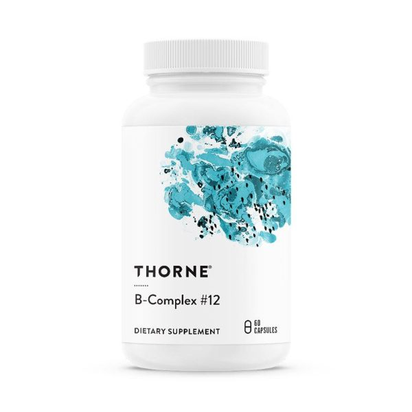 The front of bottle B-Complex #12 by Thorne