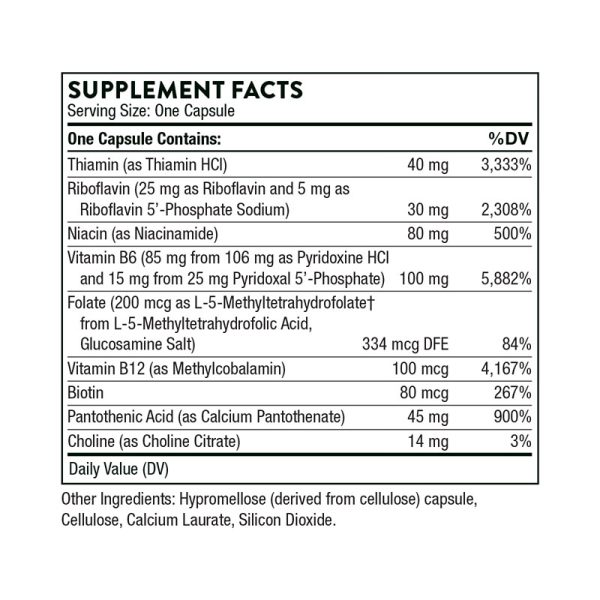 Thorne B-Complex #6 Supplement Facts