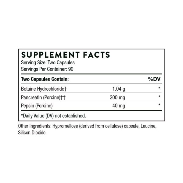 Thorne B.P.P. Supplement Facts