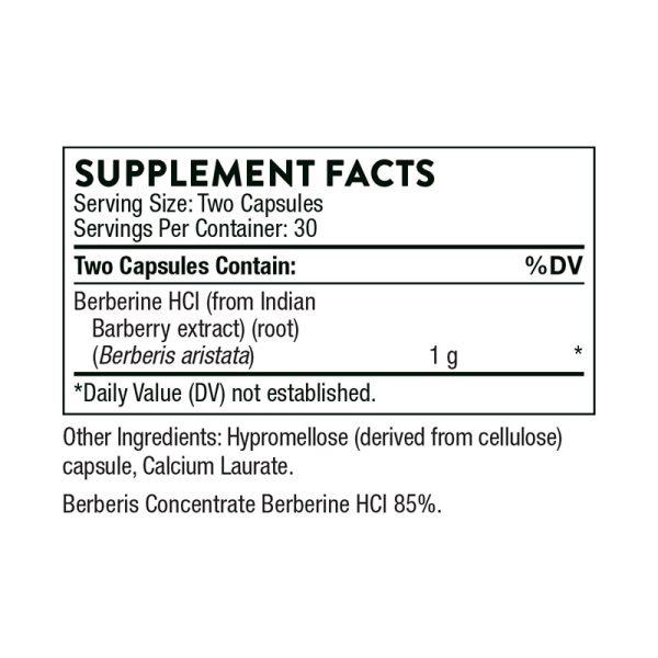 Thorne Berberine-500 Supplement Facts