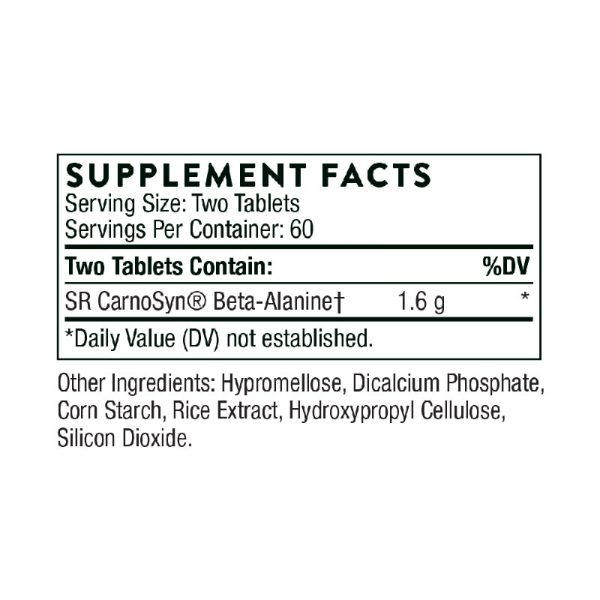 The supplement facts for Beta Alanine-SR by Thorne