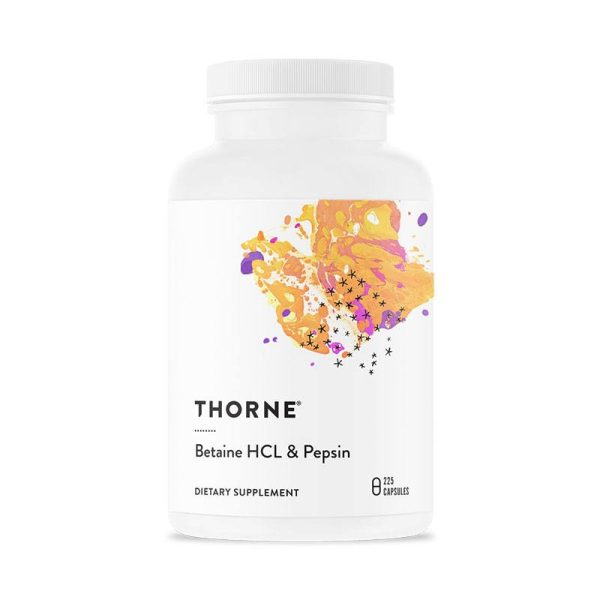 The front of bottle Betaine HCL/Pepsin by Thorne