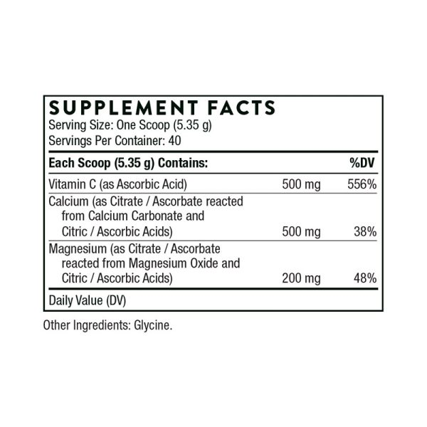 Thorne Cal-Mag Citrate Supplement Facts