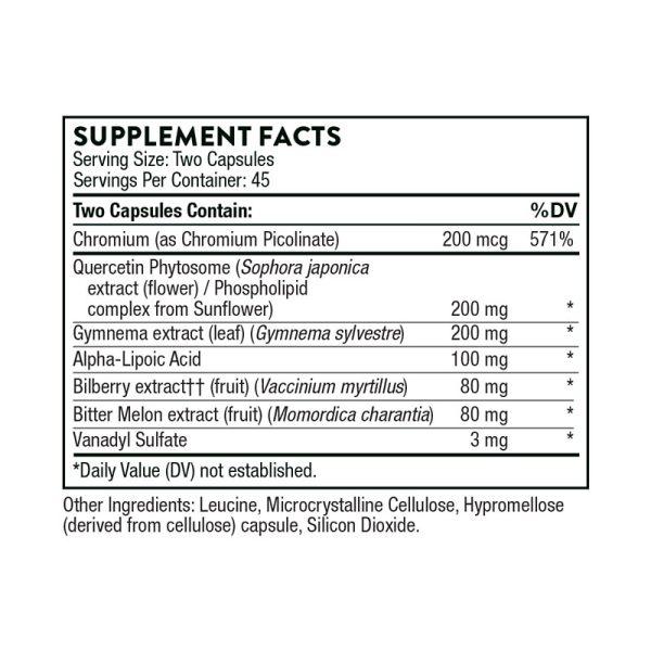 Thorne Diabenil Supplement Facts