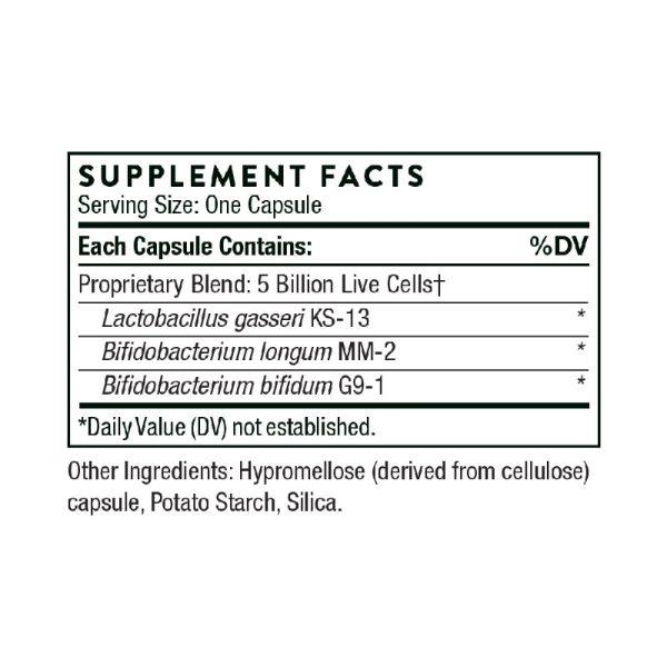 Thorne Flora Mend Prime Probiotic Supplement Facts