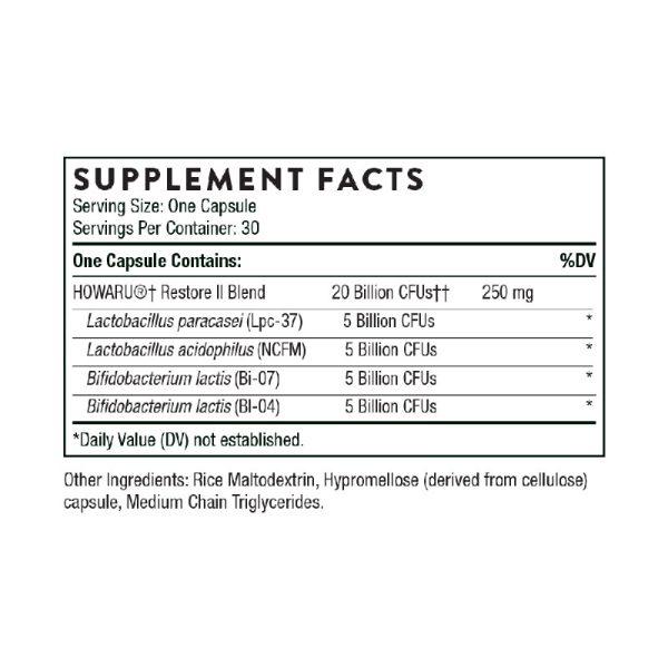 Thorne FloraSport 20B Supplement Facts