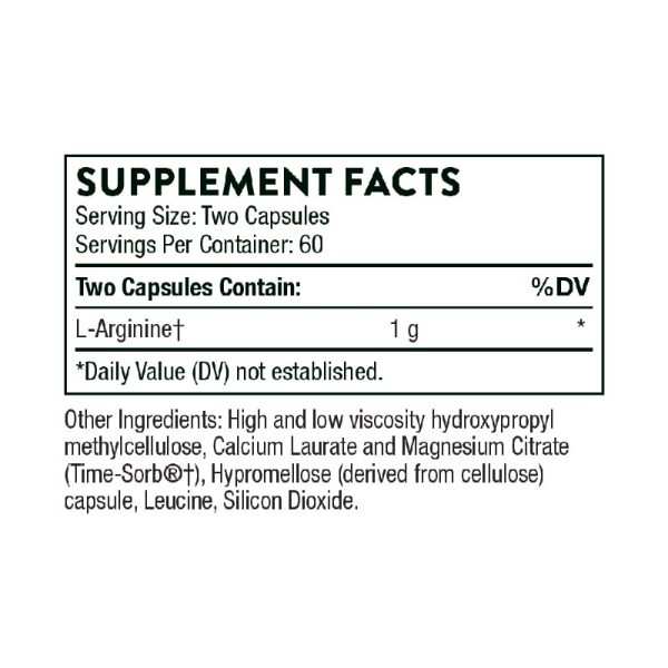 Thorne Perfusia-SR Supplement Facts