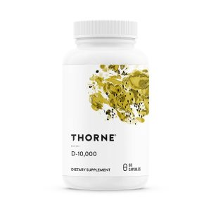 The front of bottle Vitamin D 10,000 by Thorne