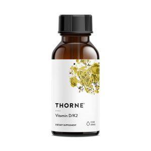 Thorne Vitamin d/K2 Liquid Bottle