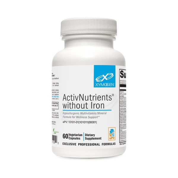 Xymogen ActivNutrients without Iron Bottle
