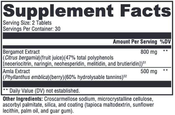 Xymogen BergaCor Plus Supplement Facts