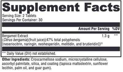 Xymogen BergaCor Supplement Facts