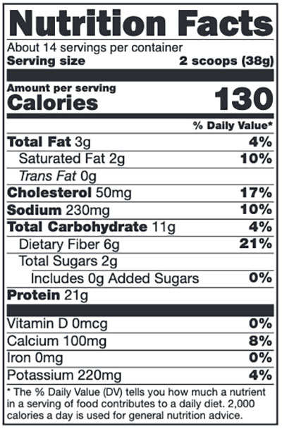Xymogen Fit Food Lean Whey Vanilla Delight No Added Sugar, No Added Stevia Supplement Facts