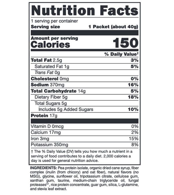 Xymogen Fit Food Vanilla Delight Supplement Facts
