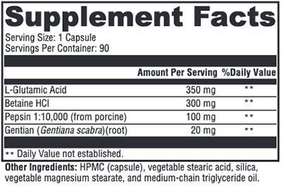 Xymogen GastrAcid Supplement Facts